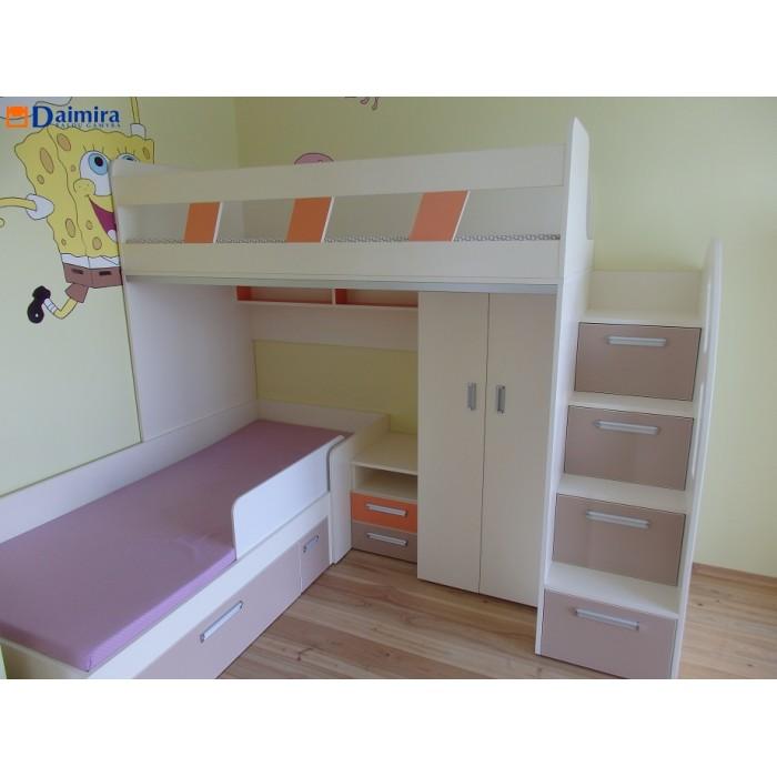 Dviaukštė vaikiška lova DL0015