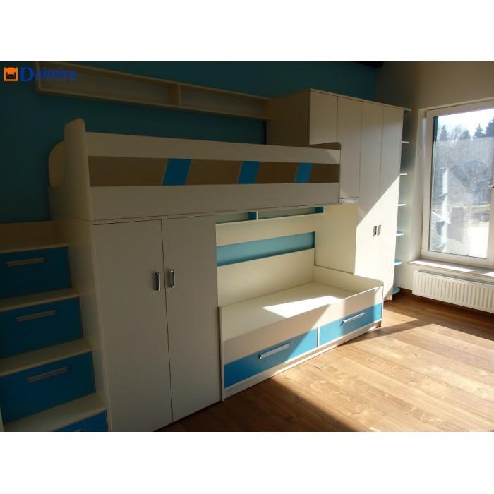 Dviaukštė vaikiška lova DL0020