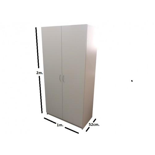Dviejų durų spinta varstomomis durimis